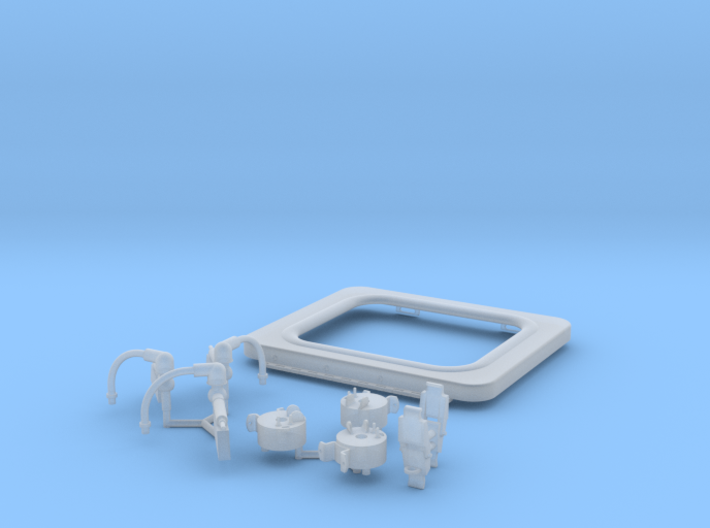 1:8 BTTF DeLorean Flux Capacitor set 2 of 2 UV WG 3d printed