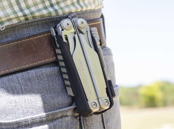 Leatherman Surge Holster, for Belt or PALS 3d printed Fits onto most belts.