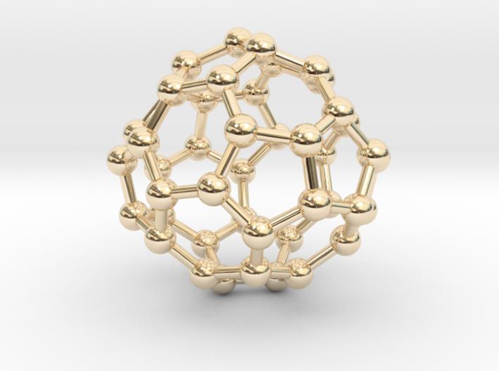 0703 Fullerene c44-75 d2 3d printed