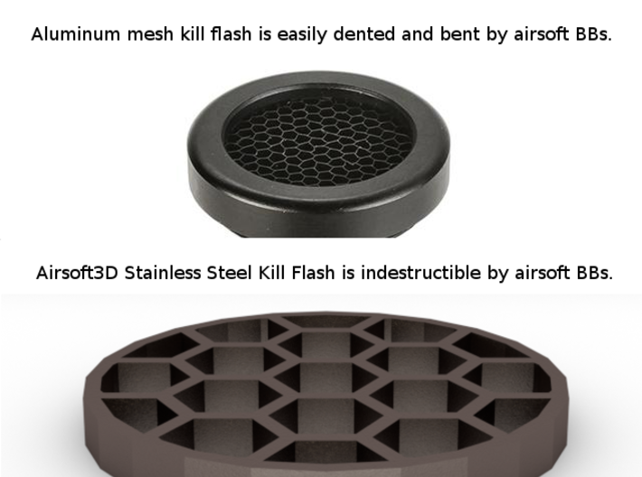 36mm Honeycomb Kill Flash (Stainless Steel) 3d printed
