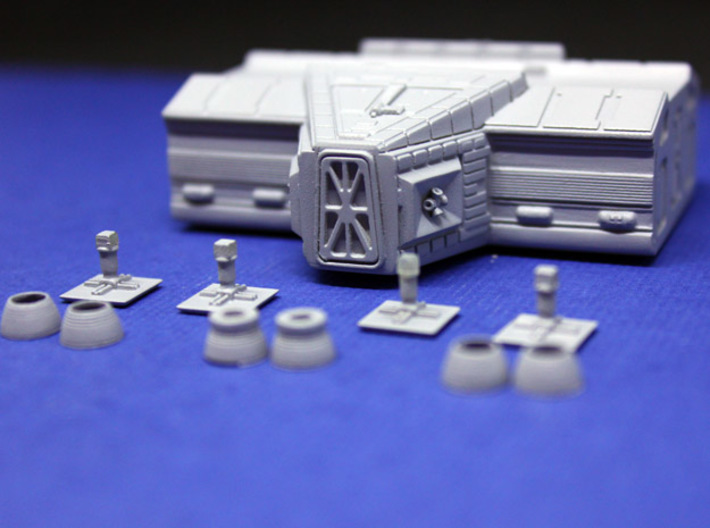 SPACE 2999 TRANSPORTER 1/144 LAB POD 3d printed The parts of the kit.