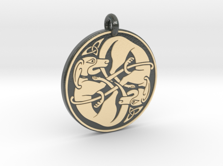 Celtic Dog Round Pendant 6nckezs9a By Arcmrashid