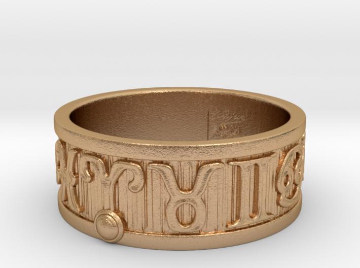 Zodiac Sign Ring Aries / 23mm 3d printed