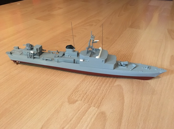 Thetis / Najade, Hull (1:200, RC) 3d printed complete model, painted