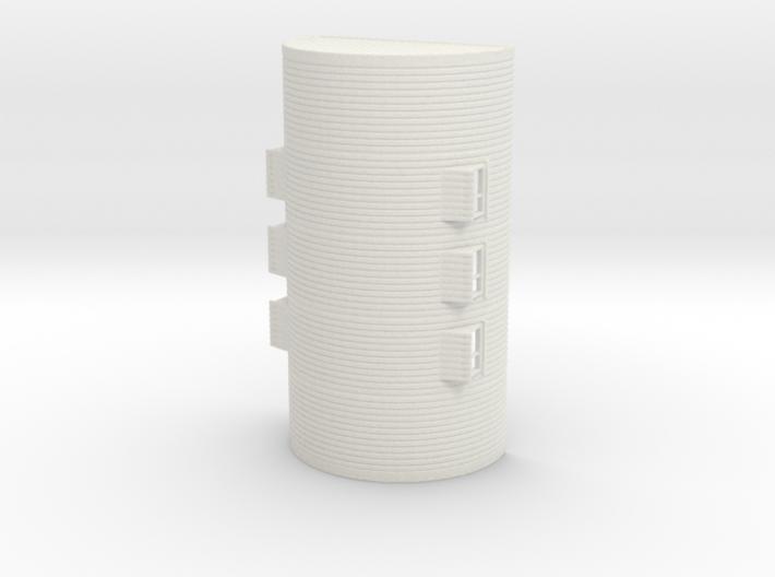 1/120th (TT) scale Nissen hut 3d printed