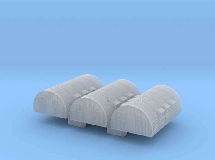 1/1200th-1/1250th scale Nissen hut (3 pieces) 3d printed