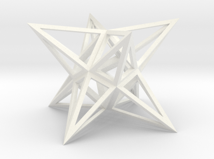 Stellated Square Anti-Diamond Frame 3d printed