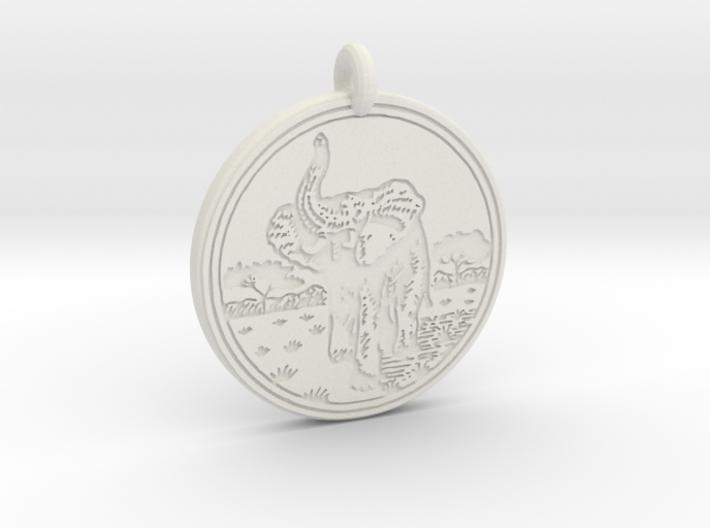 African Elephant Animal Totem Pendant 3d printed
