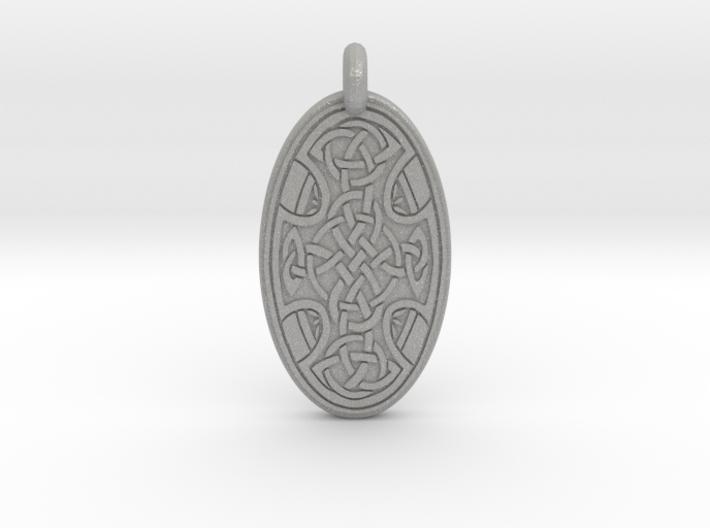 Celtic Cross - Oval Pendant 3d printed