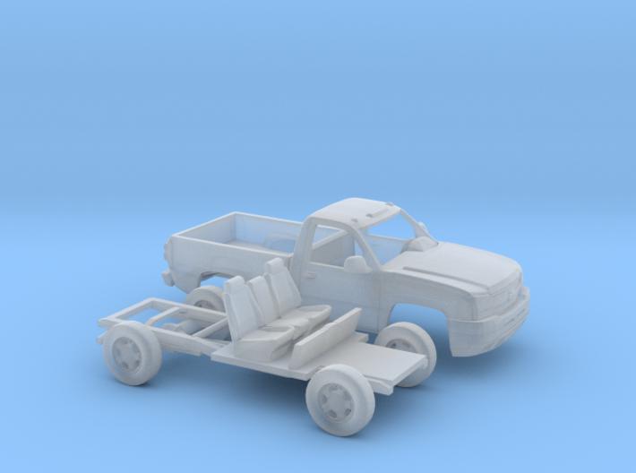 1/160 2003-06 Chevy Silverado1500 RegCabRegBed Kit 3d printed