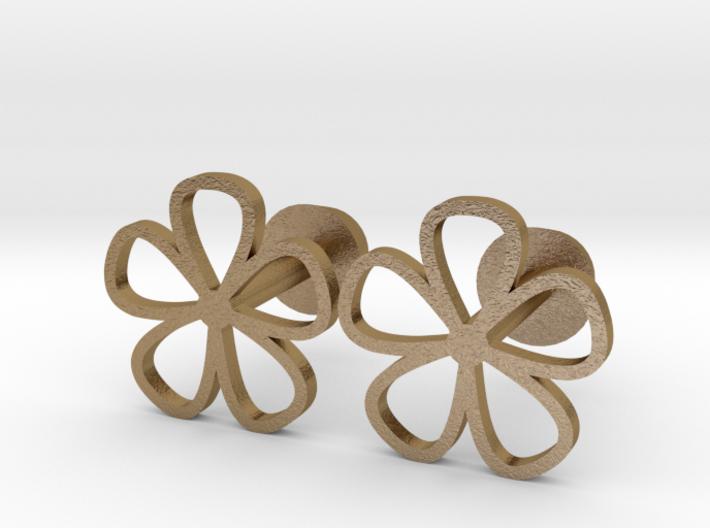 Floral cufflinks 3d printed