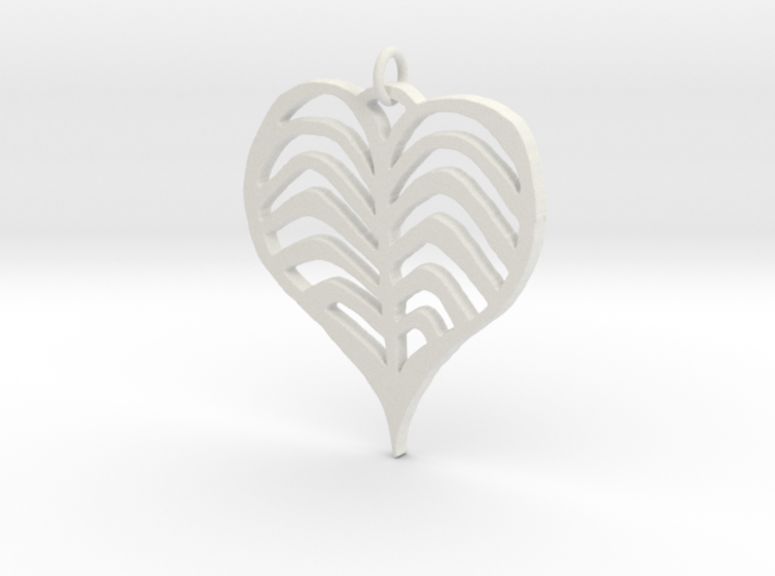 Rib cage Heart Pendant 3d printed