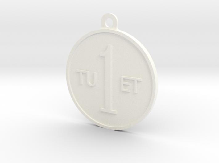 One Round Tuet Key Fob 3d printed
