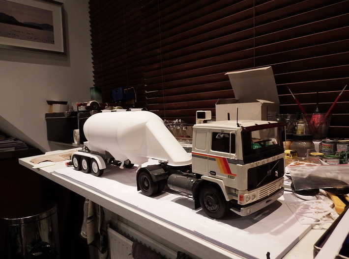 Front Bulk Head for Retro Euro Bulk Tanker 3d printed