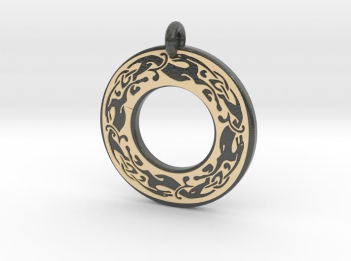 Celtic Dog Annulus Donut Pendant 674tr4l46 By Arcmrashid