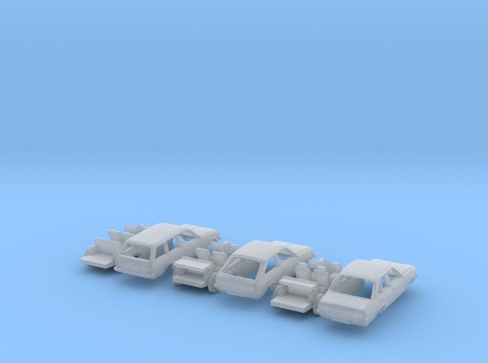 SET 3x Vauxhall Chevette (N 1:160) 3d printed