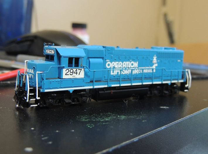 N Scale Dual Control Stand GP38 Cab Marker Lights  3d printed