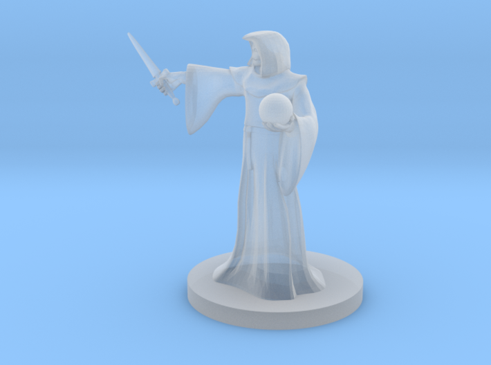 Warforged Mage with Orb Focus 3d printed