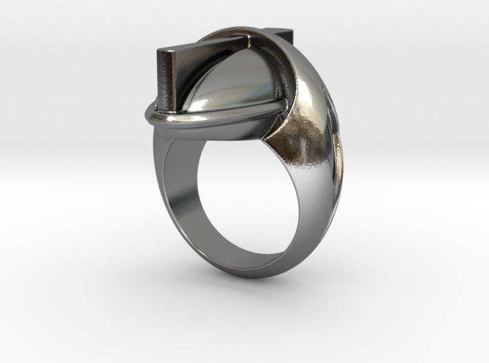 Cross Ring - Size 9 (18.95 mm) 3d printed