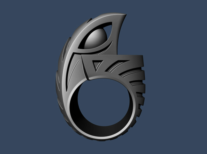 Falcon Ring 1 - Size 11 (20.57 mm) 3d printed