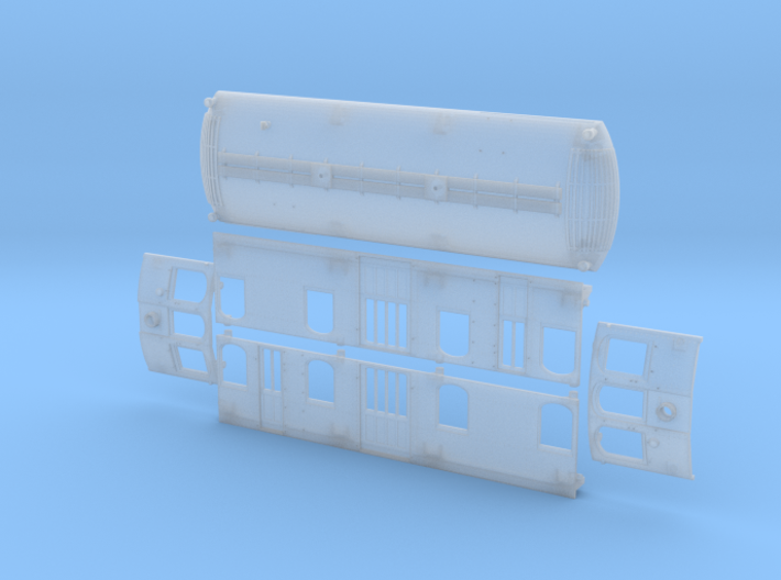 O Scale Illinois Terminal Class B Body 3d printed