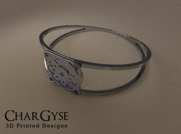 Elegant Bangle - Suspended Coin 3d printed Rendered in Blender