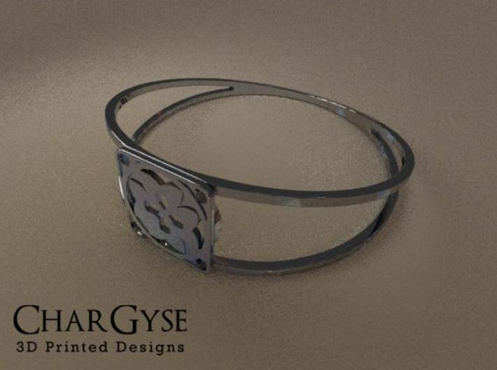 Elegant Bangle - Eight Petals Crossed 3d printed Rendered in Blender