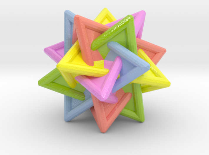 Tetrahedra Compound 3d printed