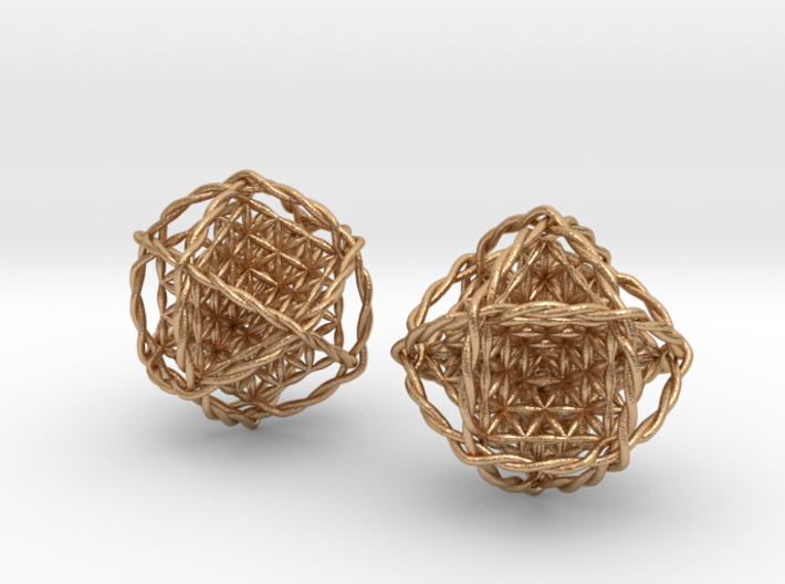 """Twisted Ball of Life Pair 1.8"""" 3d printed"""