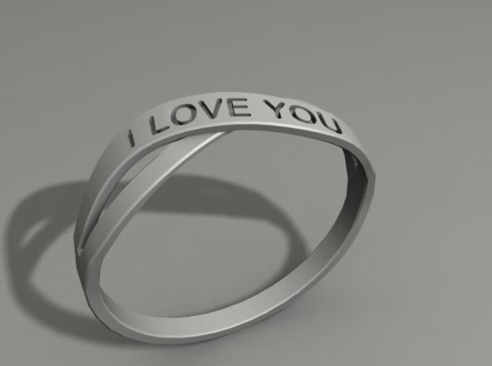 I Love You ring US14 3d printed