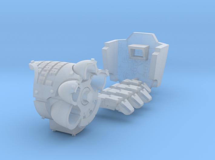 Death's Watch MkX Dreadnought left arm (bundle) 3d printed