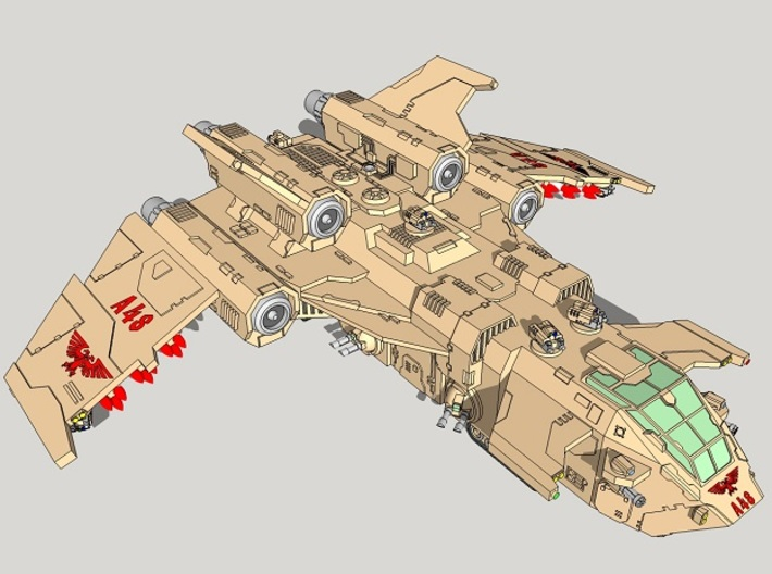 "6mm ""Birdstorm"" Superheavy Dropship 3d printed"