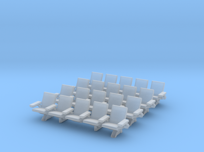 HO Scale Waiting Room Seats 4x5 3d printed