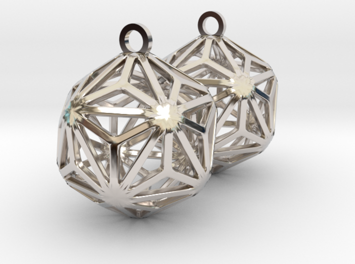 Triakis Icosahedron Earrings 3d printed