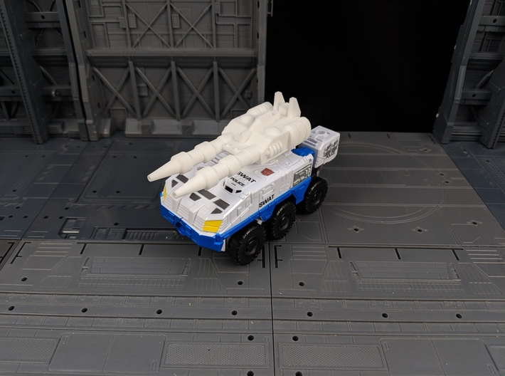 TF CW Streetwise XL Car Cannon 3d printed Mounted onto Rook