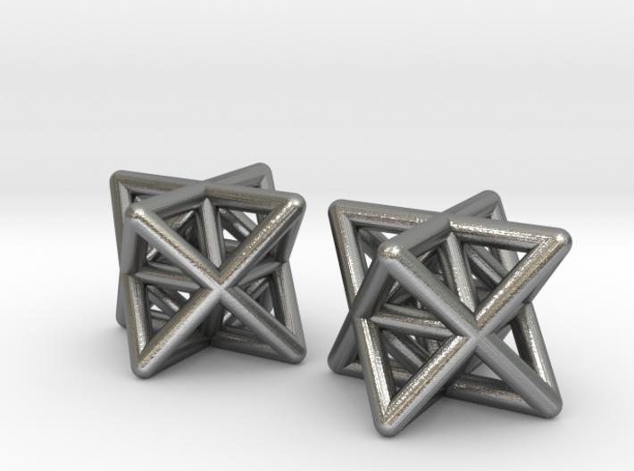 Stellated Octahedron Earrings 3d printed
