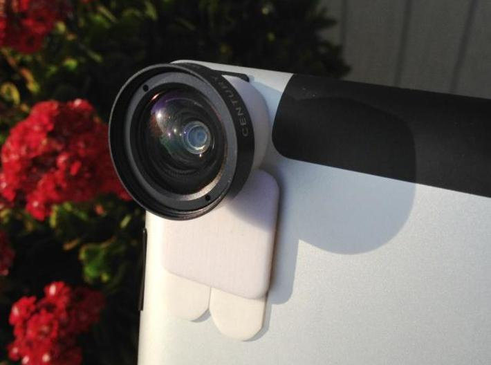 iPro lens mount for iPad 3 - Stick on 3d printed