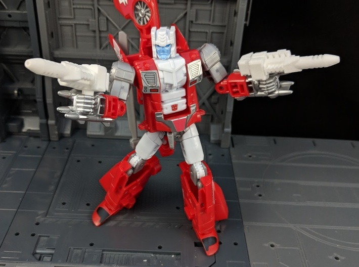 TF Combiner Wars Blades Helicopter Cannons 3d printed Used as Handheld weapons