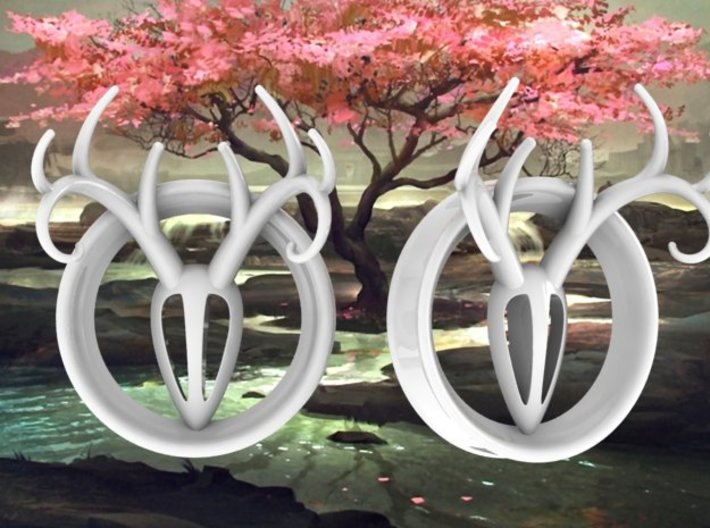 1 & 15/16 inch Antler Tunnels 3d printed Multiple sizes available.