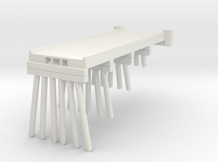 Part A Deck Trestle N (1:160) Modular Six Piles 3d printed