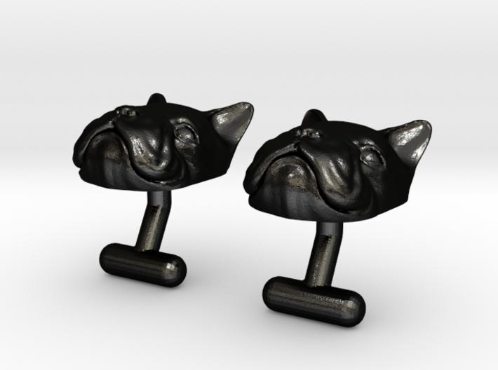 French Bulldog Cufflinks 3d printed