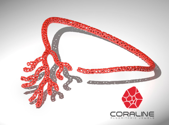 Red Coral Necklace 3d printed
