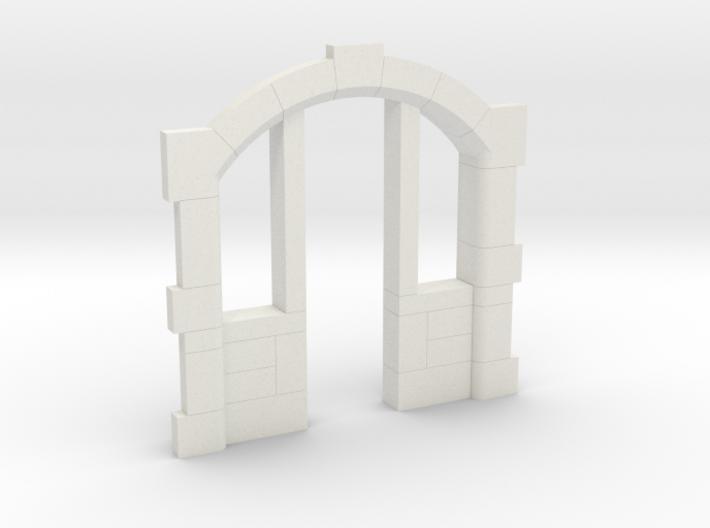 Sandsteineinfassung für Tür/sandstone frame H0-TT 3d printed Vorderseite/front