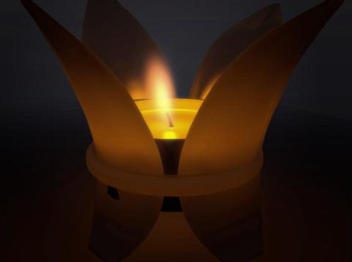 LillyLeaf Tealight Holder 3d printed Concept render.