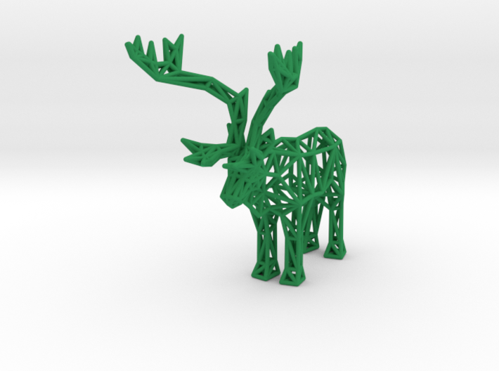 Caribou (adult male) 3d printed