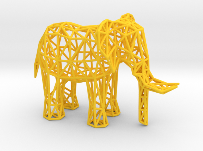 African Elephant (adult male) 3d printed