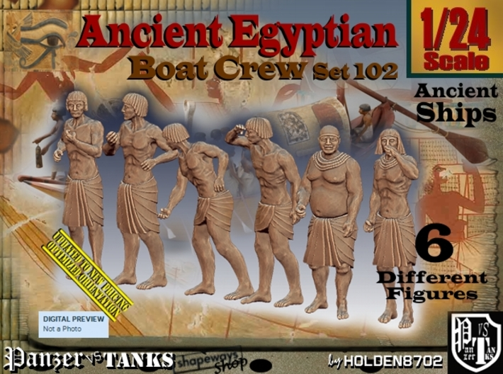 1/24 Ancient Egyptian Boat Crew Set102 3d printed