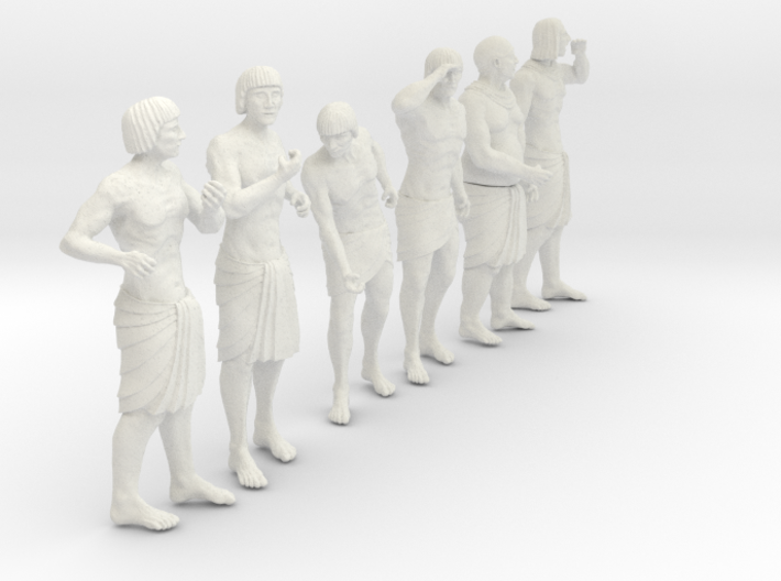 1/30 Ancient Egyptian Boat Crew Set102 3d printed