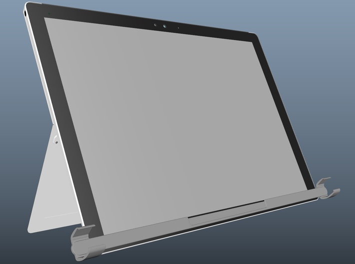 Tobii Eye Tracker 4C mount for Microsoft Surface 3d printed