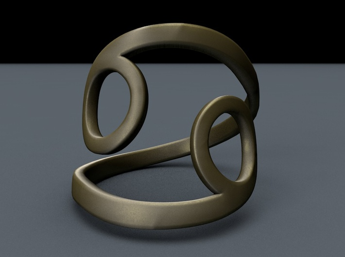 Cancer Ring - Zodiac Ring 3d printed